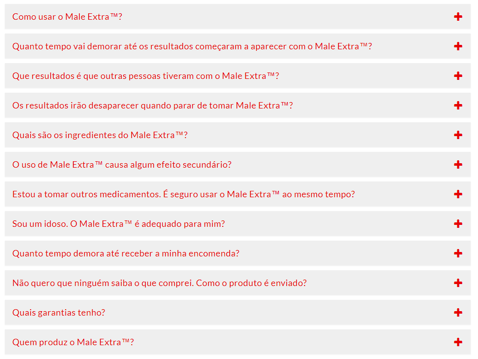 FAQ do Male Extra